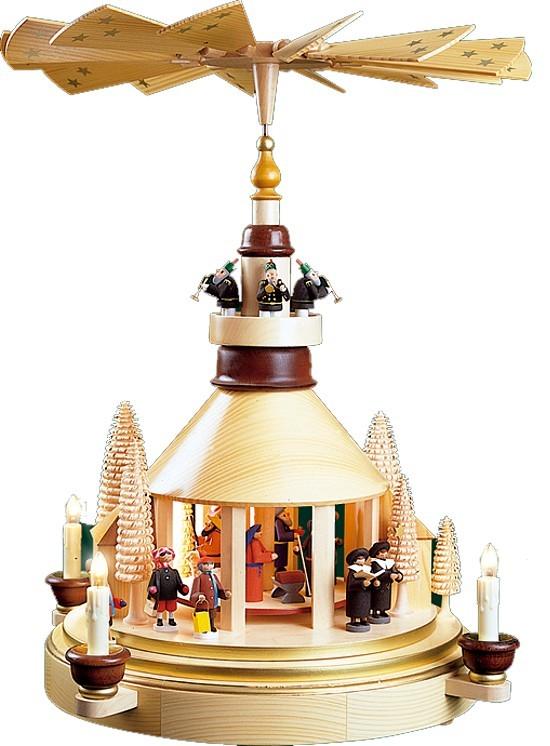 Weihnachtspyramide Seiffener Kirche