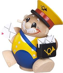 Kugelräucherfigur Postbote