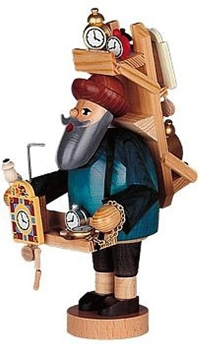 Räuchermännchen Uhrenhändler -die Bärtigen-