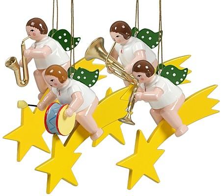 Baumbehang Engel auf Sternschnuppe - Variante 2, ohne Krone