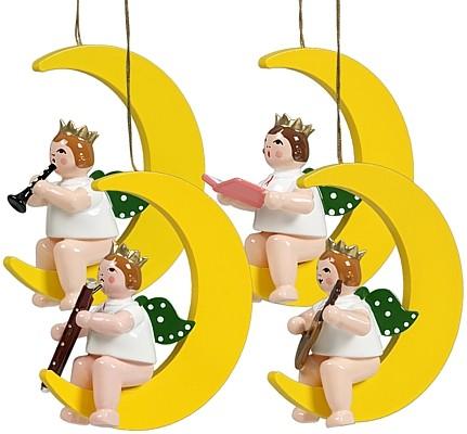 Baumbehang Engel auf Mond - Variante 2, mit Krone