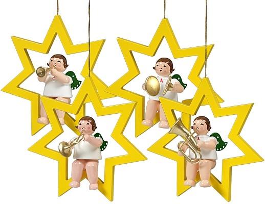 Baumbehang Engel im Stern - Variante 2, ohne Krone