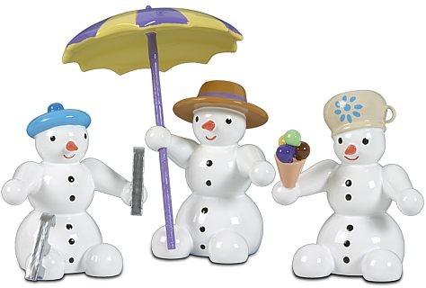 Schneemänner, sitzend
