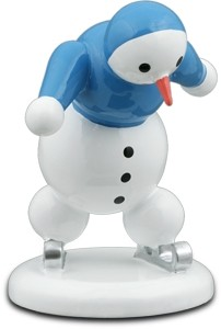 Schneemann Eisschnellläufer