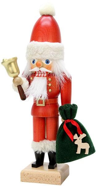 Nußknacker Weihnachtsmann mit Glocke