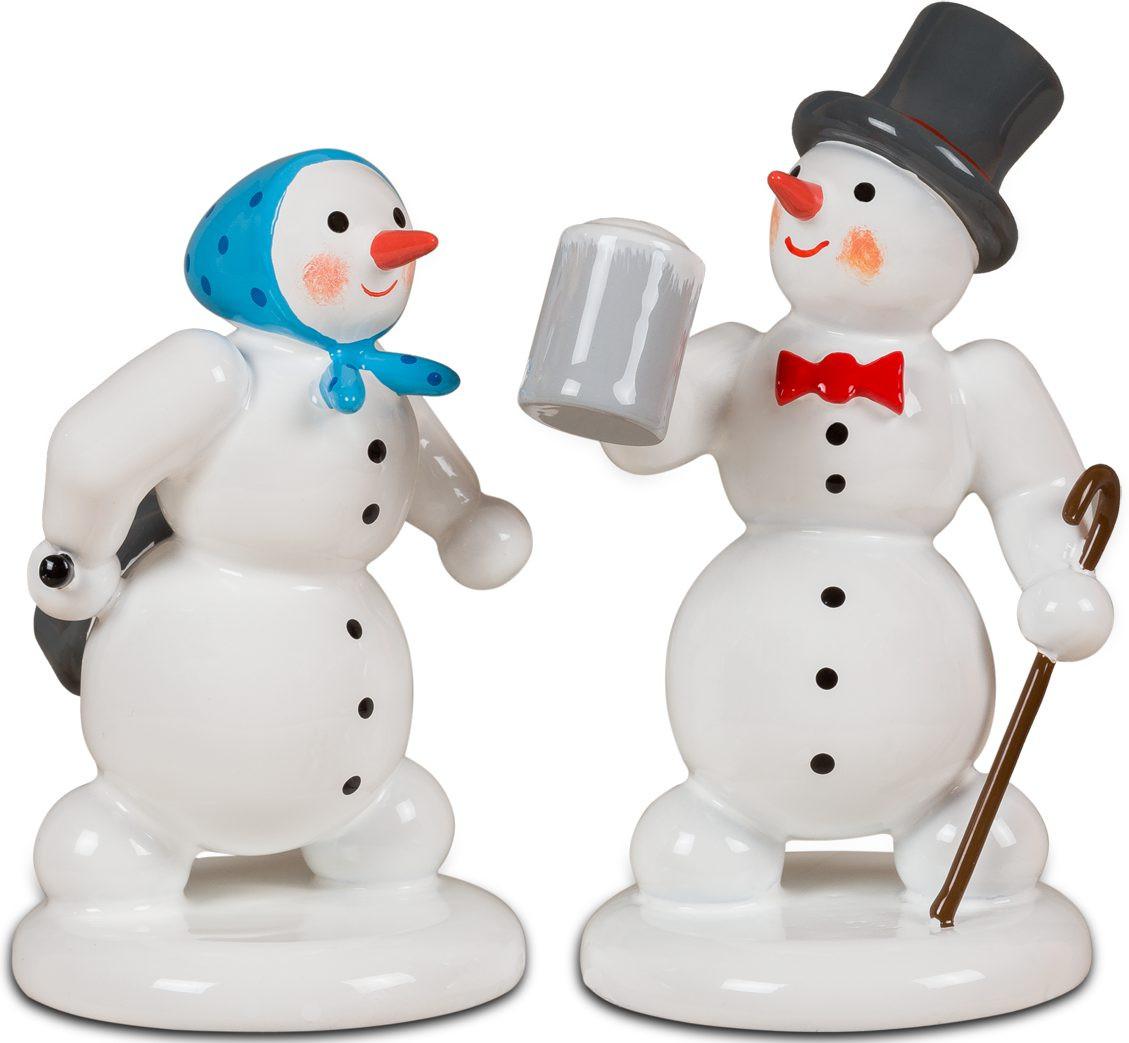Schneemann und Schneefrau - Nach dem Weihnachtsmarkt
