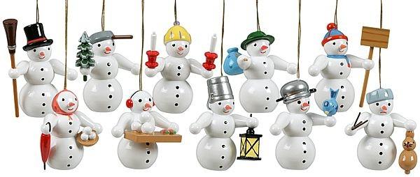 Baumbehang Schneemänner