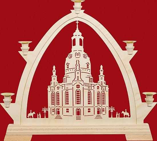 Kleine gotische Bögen für Wachskerzen Frauenkirche