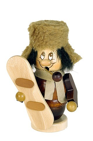 Räuchermännchen Miniwichtel Snowboarder