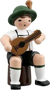 Bayernmusikant mit Mandoline