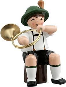 Bayernmusikant mit Parforcehorn