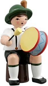 Bayernmusikant mit gr. Trommel