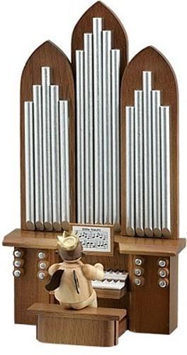 Engel mit Orgel Natur (mit Spielwerk)