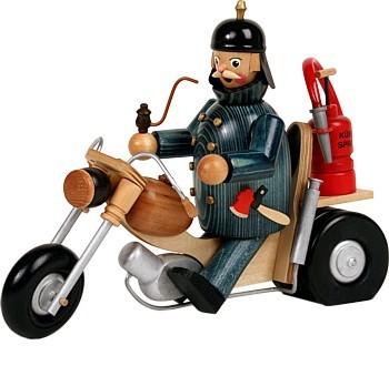 Räuchermann Feuerwehr-Biker