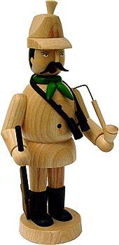 Räuchermann Jäger mit naturfarbenem Hut