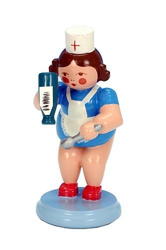 Krankenschwester mit Medizin