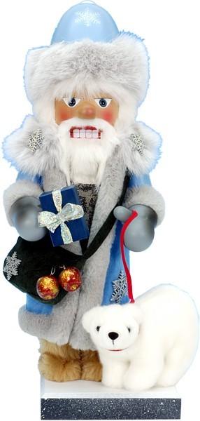 Nussknacker Väterchen Frost mit Eisbär