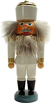 Erzgebirgischer Nußknacker König (weiß)