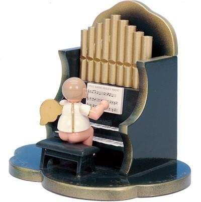 Spieldose Engel an Orgel grün