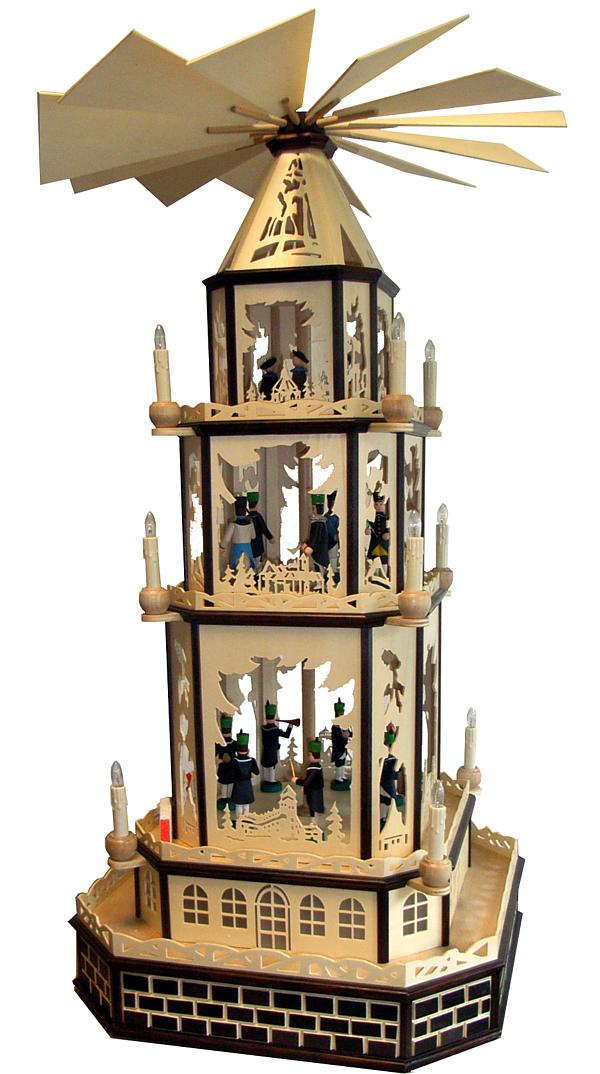 """Weihnachtspyramide """"Burgen und Schlösser"""""""