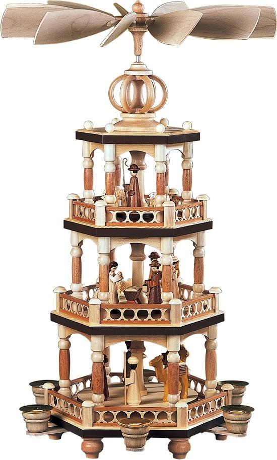 Pyramide heilige Geschichte mit Säulendesign 3-stöckig Natur