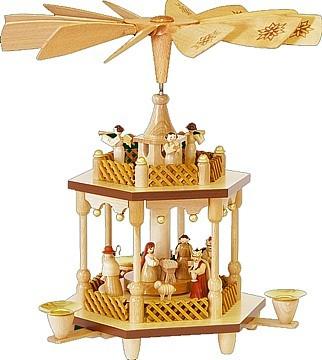 Weihnachtspyramide Christi Geburt 1-stöckig