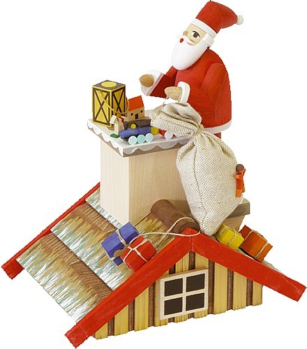 Rauchhaus mit Santa