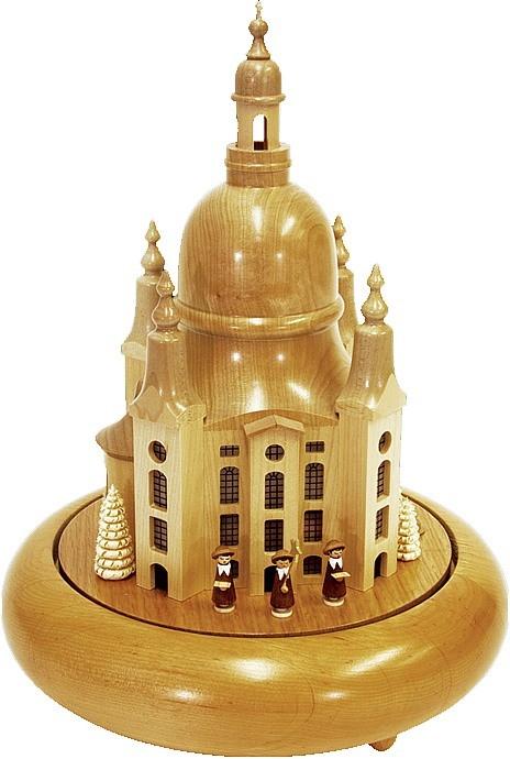 Spieldose Frauenkirche, elektrisch beleuchtet