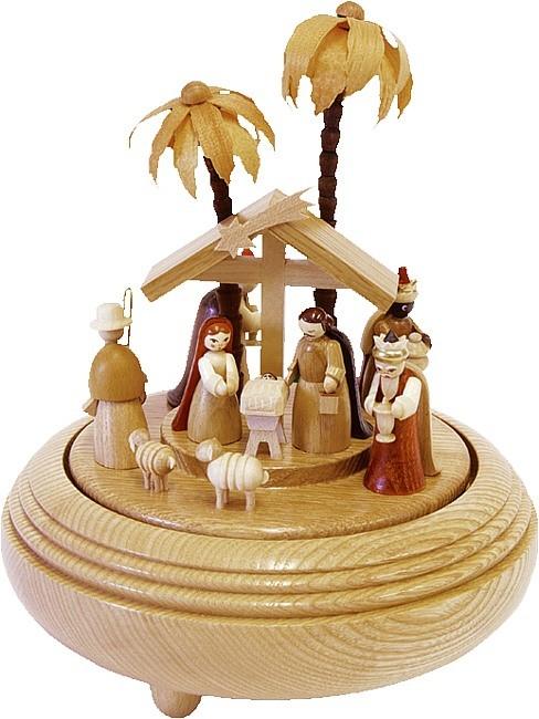 Spieldose Christi Geburt natur 18er Spielwerk