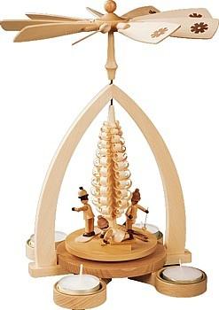 Pyramide Winterkinder, für Teelichte