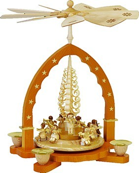 Weihnachtspyramide Engelkonzert natur