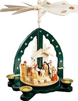 Pyramide Christi Geburt, grün