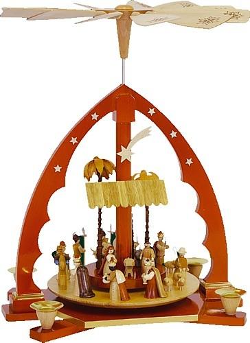 Weihnachtspyramide Christi Geburt, natur