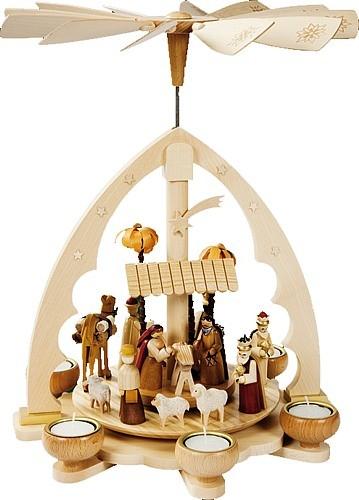 Teelichtpyramide Christi Geburt