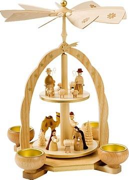 Teelichtpyramide 2 stöckig Christi Geburt