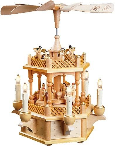 Weihnachtspyramide Christi Geburt, natur, elektrisch