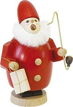 Räuchermann Weihnachtsmann mit Geschenk