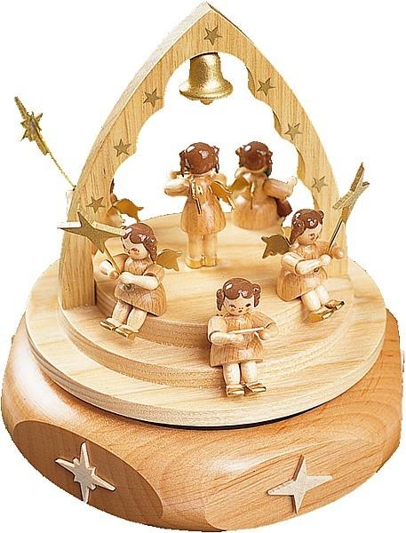 Spieldose Engelkonzert natur, 18er Spielwerk Süßer die Glocken