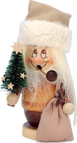 Räuchermännchen Miniwichtel Weihnachtsmann mit Baum