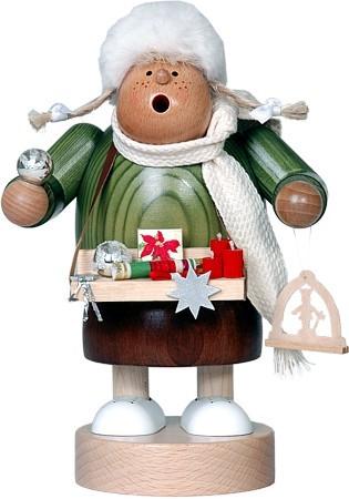 Räuchermännchen Weihnachtsmarktverkäuferin -Die Dicken-