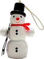 Schneemann mit Leiter, Baumbehang