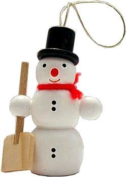 Schneemann mit Schippe, Baumbehang