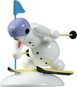 Schneemann Slalomläufer alpin