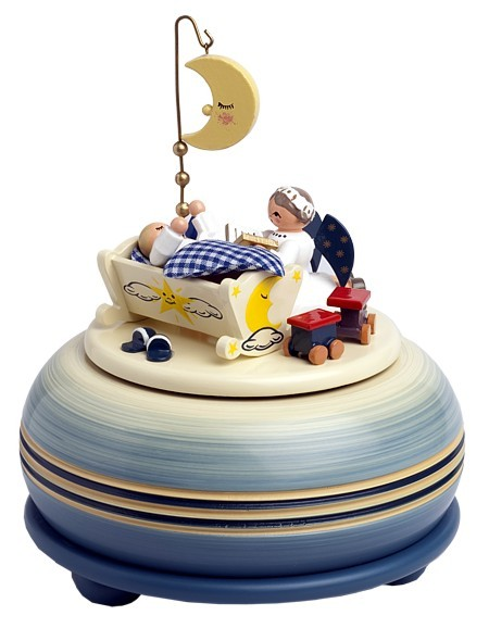 """Spieldose """"Gute Nacht"""" ( blau )"""