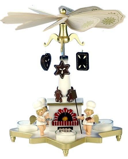 Teelichtpyramide Bäckerengel