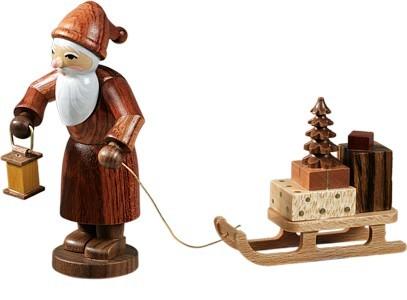 Weihnachtsmann mit Schlitten Natur