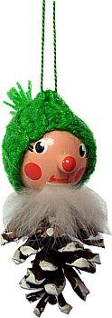 Zapfenmännchen mit grüner Mütze