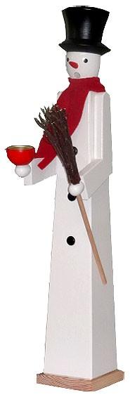 Riesen - Räuchermann Schneemann mit Teelichthalter