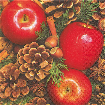 Servietten, Apples with nuts