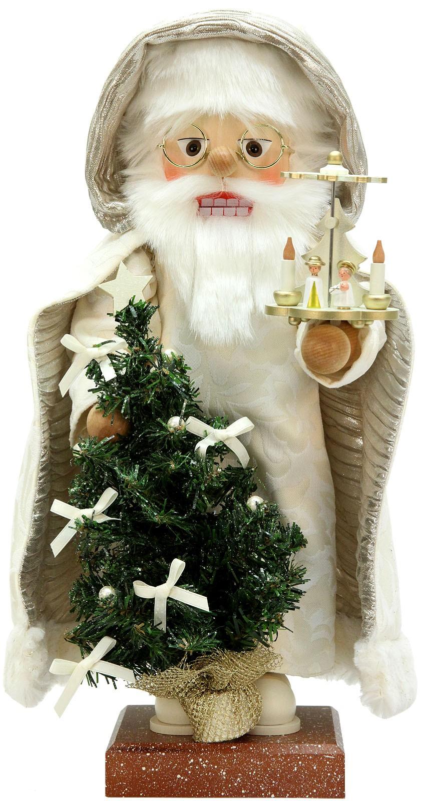 Nußknacker Weihnachtsmann mit Pyramide
